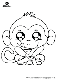 Monkey Coloring Pages Free Printable For Kids 5 Little Monkeys Page