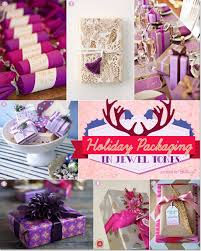 Unique holiday wrapping with jewel tones