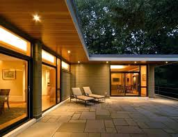 contemporary home lighting. Exterior Home Lighting Ideas Inspiration For A Contemporary One  Story Remodel In Lightning Strikes River Contemporary Home Lighting D