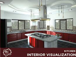 Modern Kitchen Interior Design Interesting Interior Design Visualization Of A Modern Kitchen RendR PLUS