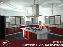 Kitchen Interiors Design Unique Interior Design Visualization Of A Modern Kitchen RendR PLUS
