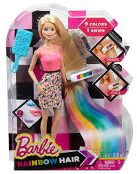Barbie Hairstyles 0 Amazing Barbie Rainbow Hair Doll