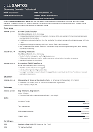 Resume Template For Teachers Examples Jobs Free Download
