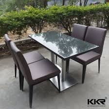 modern round solid surface marble top dining tables