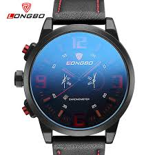online get cheap mens large watches aliexpress com alibaba group longbo luxury brand military watches men quartz analog large dial leather clock man sports watches army