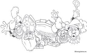 Sinterklaas En Zwarte Piet Kleurplaat 51921 Kleurplaat