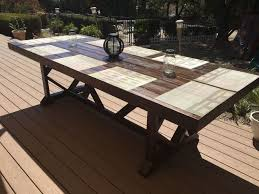 outdoor woodworking projects. diy large outdoor dining table seats 10 12, diy, furniture, living woodworking projects