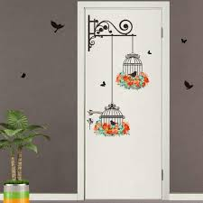 bird cage decorative painting living room tv background wall decoration wall sticker paper mural painting