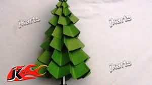 How to make Paper Christmas Tree | DIY Christmas decorations | JK Arts 082  - YouTube