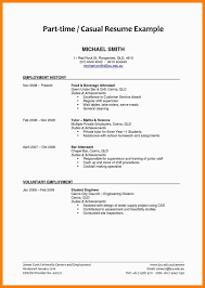 Resume For Part Time Job In Restaurant College Student Canada Sample