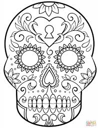 Small Picture Day Of The Dead Sugar Skull Eye Coloring Page Art Culture