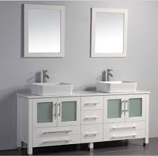White Double Bathroom Vanities Mtd Malta 61 Inch White Double Vessel Sinks Bathroom Vanity Solid