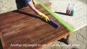 cleaning the teak the marine teak way