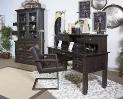 home office desk hutch. Townser - Grayish Brown Home Office Desk Hutch 0