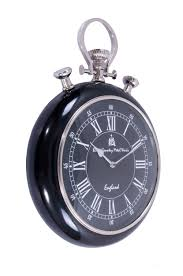pocket watch wall clock with black face and surround 1 of 1free