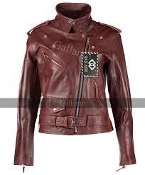 vintage red las brando biker jacket