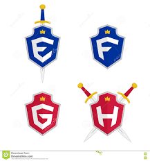 Letter F Templates Letter E F G H Vector Logo Templates Letter Logo With Shield And