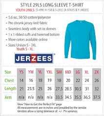 Jerzees T Shirt Size Chart Jerzees Youth T Shirt Size Chart Coolmine Community School