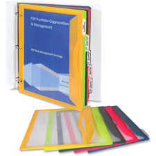 lime green office accessories. C-Line Write-on Tab Poly Binder Pockets - For Letter 8 1/2\ Lime Green Office Accessories