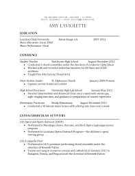 Music Education Resume. 250 Metairie Lawn Dr.  Metairie  LA 70001 PHONE:  225315 ...