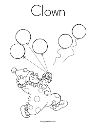 Circus Clown Coloring Pages Coloring Home