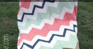 Chevron Crochet Baby Blanket Pattern