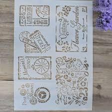 Aliexpress Com Acheter Bricolage Artisanat Superposition Pochoirs Fleur Dessin Superposition Peinture Modele Timbres Pour Bricolage Scrapbooking Photo Album Cartes Decoratif Gaufrage Bricolage Artisanat L