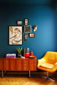 Astounding Blue Wall Paint With Brown Furniture Pictures Ideas ...