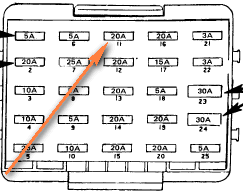short circuit in an 89 cadillac deville, radio wont turn on, glove 1995 cadillac deville fuse box diagram at Pictute Of Fuse Box On 1999 Cadillac Deville