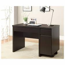 furniture corner black wooden small desks with drawers and storage
