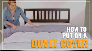 how to put on a duvet cover easily by yourself