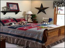 Primitive Bedroom Decorating Americana Bedroom Decor Free Image