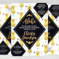 Bridal Shower Invitation A5 Card Template Exclusive Flyer Medium