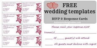 Free Wedding Rsvp Response Card Template Templat Free