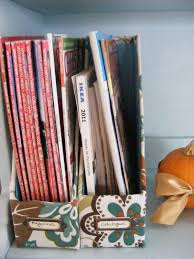 Cardboard Magazine File Holders The Complete Guide to Imperfect Homemaking OrganizedHome Day 100 93