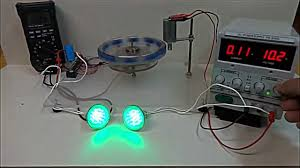 almost self running magnet motor led test