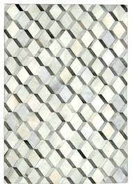 diamond pattern rug grey cowhide patchwork white target