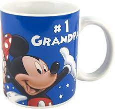 Wash thoroughly before first use ceramic 4.75 h. Amazon Com Disney 1 Number One Grandpa Family Ceramic Coffee Mug Cup Blue 11 Ounce Coffee Cups Mugs