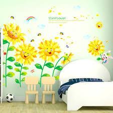 sunflower wall decor hot s removable sunflower wall sticker creative wall decals flowers for living room sunflower wall decor