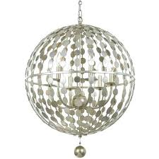 chandelier orb 6 light orb chandelier in antique silver by metal orb chandelier diy orbit chandelier