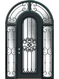 glass craft door company full lite round top wrought iron door 8 0 tall w surround glass craft door