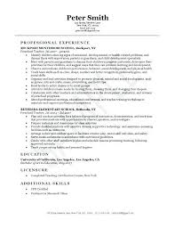 Early Childhood Education Resume Fascinating Early Childhood Resume Skills For Early Childhood Education Resume