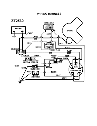 Wiring harness diagram parts list for model zt2560 swisher parts