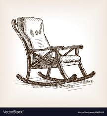 rocking chair sketch. Interesting Sketch Rocking Chair Sketch Style Vector Image For Chair Sketch E