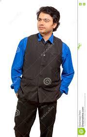 indian male model wearing black half jacket royalty free stock photo