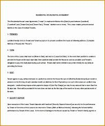 Residential Lease Agreement Template Word - April.onthemarch.co