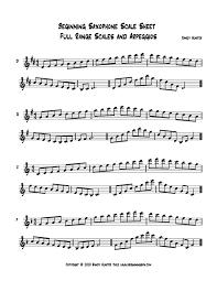 Saxophone Scales Lamasa Jasonkellyphoto Co