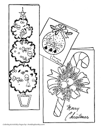 Small Picture Christmas Decorations Coloring Pages Christmas Cards Coloring