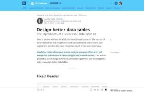 Data table design Material Designing Better Tables For Enterprise Applications Stéphanie Walter Essential Resources To Design Complex Data Tables Stéphanie Walter