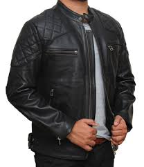 Genuine Mens Leather Motorcycle Jacket - Lambskin Leather Jacket & Mens Black Leather Quilted Jacket Adamdwight.com